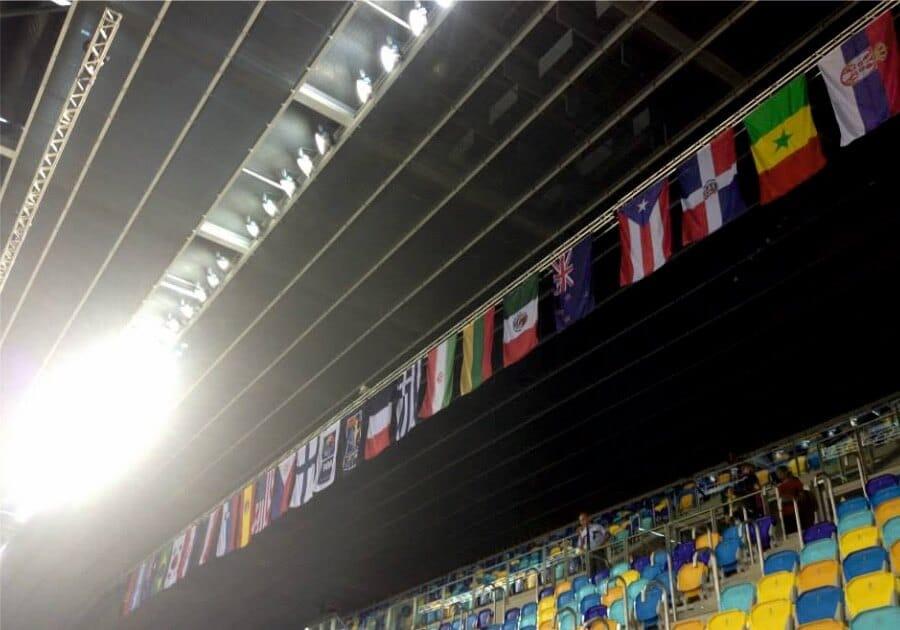 Banderas colgantes Eventtos Canarias