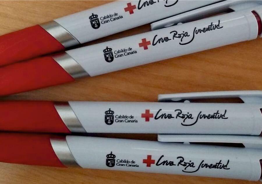 Boligrafos Cruz Roja Regalos publicitarios Eventtos Canarias