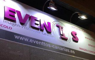 Señalética en Las Palmas Eventtos Canarias Cartel noche