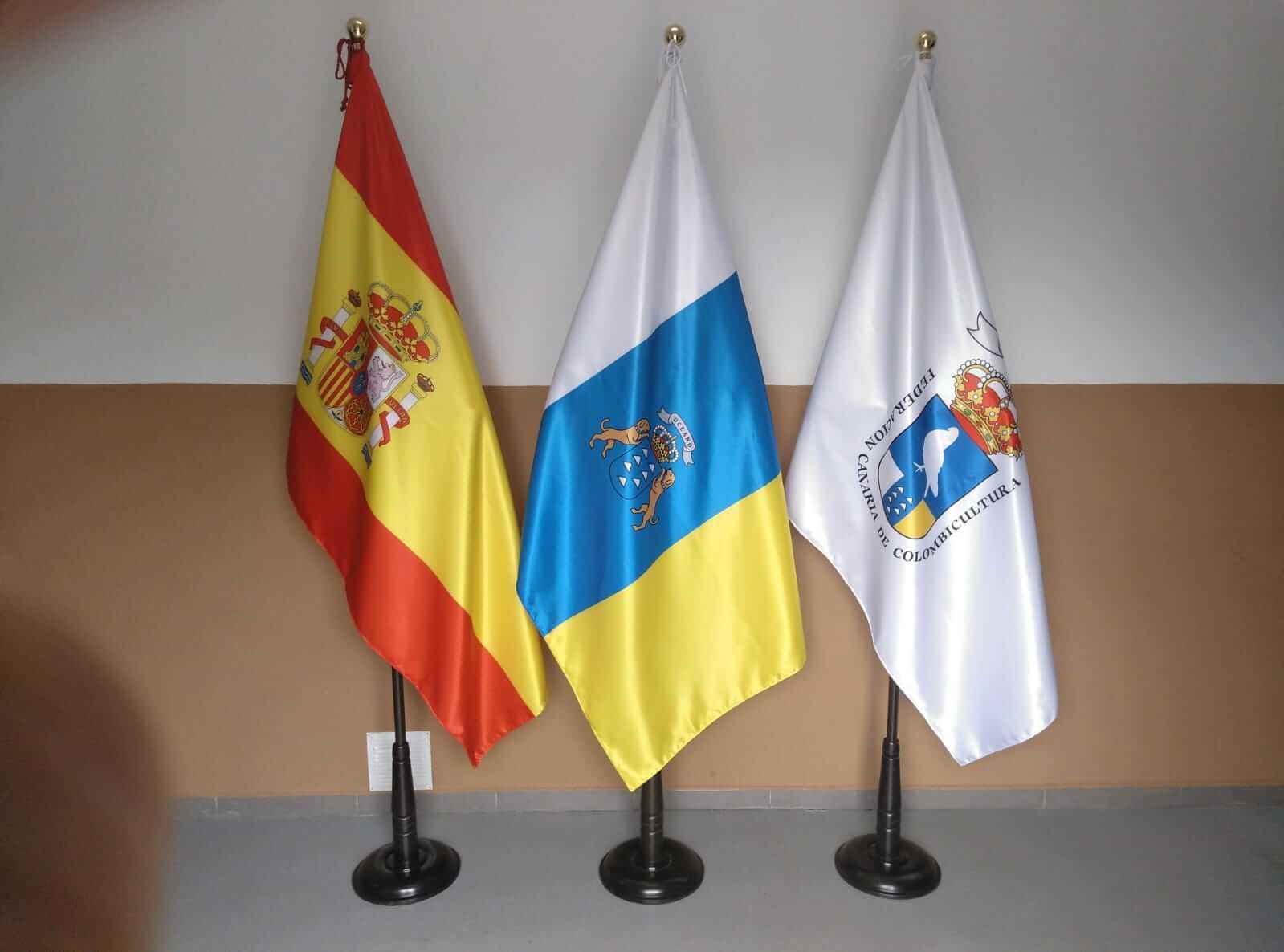 Artículos de protocolo en las palmas- banderas eventtos canarias